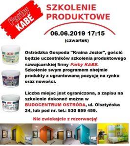 Szkolenie produktowe z firmą Farby Kabe!