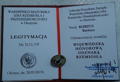 Honorowa Odznaka Rzemiosła dla Budocentrum Ostróda 👏